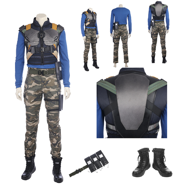90764909a Exclusivo venda CHEGADA NOVA Guerra Civil Killmonger Erik Pantera Negra  Traje Cosplay Custom Made Completa Terno