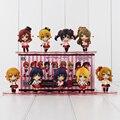 9 unids/lote 6-7 cm lindo anime love live escuela idol proyecto q versión pvc figuras de acción juguetes colección modelo juguetes para niños