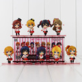 9Pcs/Lot 6-7cm Cute Anime Love Live School Idol Project PVC Q version Action Figures Toys Collection Model Toys for Kids