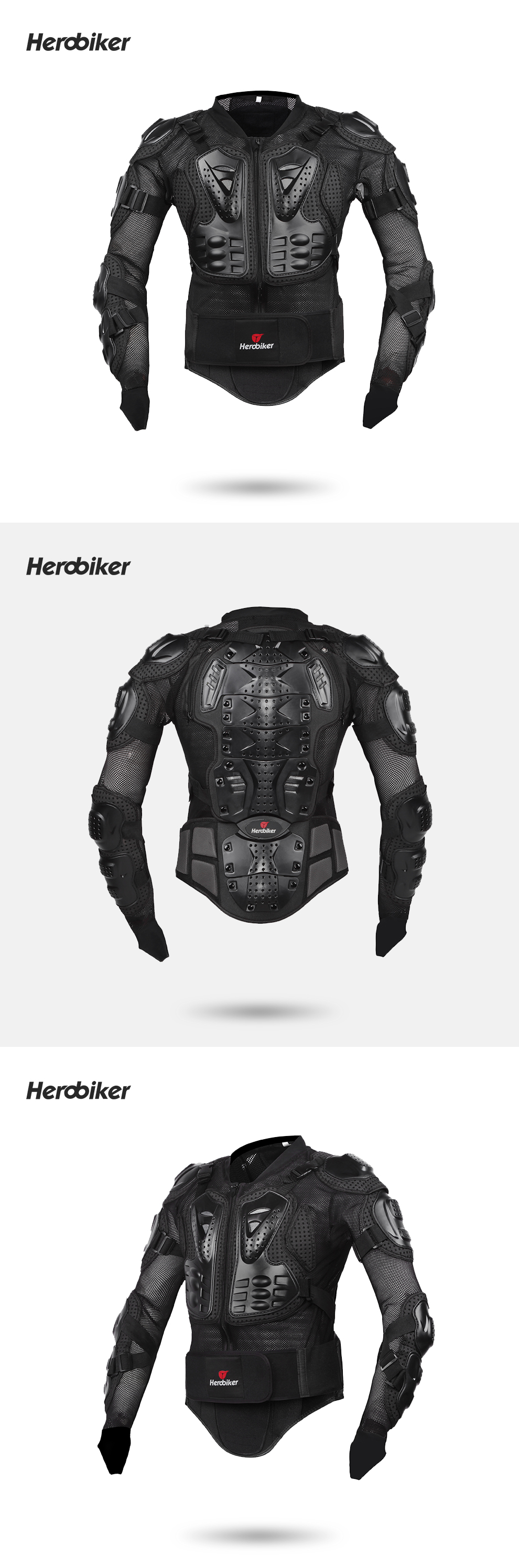 HEROBIKER Motorcycle Jacket Protective Gear Motocross Gear Armor Body Chest Motor Rider Racing Jacket Motorcycle Protection 11