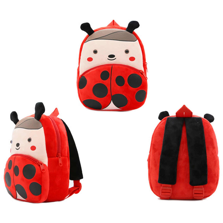 Милые Мультяшные животные каваи стиль мягкий короткий плюшевый рюкзак мягкая кукла школьный детский для начальной школы детского сада путешествия на открытом воздухе