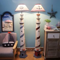 Postmodern Mediterranean Sea Lighthouse Floor Lamp Retro Ocean Living Room Bedroom Standing Lamp Colorful Decor Children Room