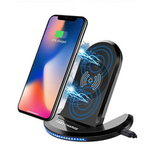 Foldable Wireless Charging Desktop Stand Qi Wireless Charger Pad for Samsung Galaxy Note 5 8 S6 S7 Edge S8 Plus For iPhone X 8 P