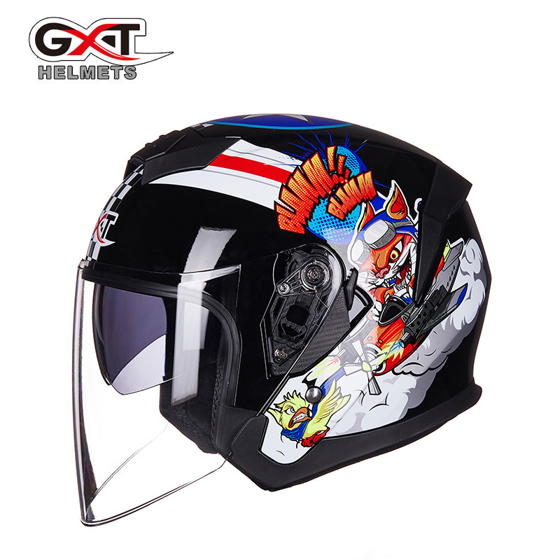 2018 New GXT Brand Motorcycle Helmet Motorcycle Scooter Helmet Removable Inner Casco Open Face Summer Half Motorcycle Helmet