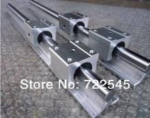 Линейный Железнодорожный Набор Диаметр 20 мм 2xSBR20-1000 мм + 4xSBR20UU Блок Для Частей С ЧПУ Комплект