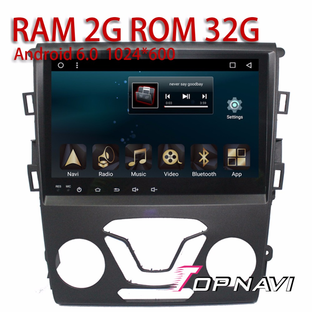 Auto Media 9 Android 6.0 for Ford Mendeo 2013 Topnavi Quad Core 2G RAM Buit -in WIFI Bluetooth support Mirror link Handsfree