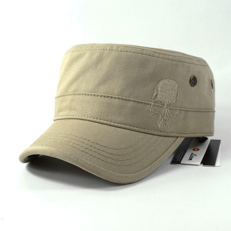 Hommes Baseball Caps Crâne Brodé Logo Flat Top Chapeaux Coton Snapback Cap Plat Armée Cadet Chapeau Femmes Gorros Hombre Hip hop