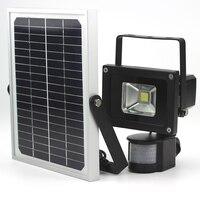 10W dimmable solar flood light garden light LED motion sensor lamp solar night light runtime 4 40hours 2 modes hight low light