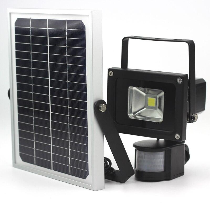 10W Dimmable Solar Flood Light Solar Garden Light LED Motion Sensor Lamp  Dimming Night Light Runtime 8 24hours