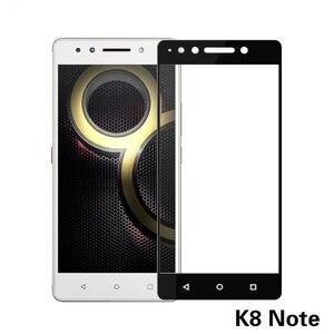 for Lenovo K8 Note full Cover Tempered Glass Screen Protector for Lenovo K6 Note Vibe K6 Note full coverage Glass film(China)