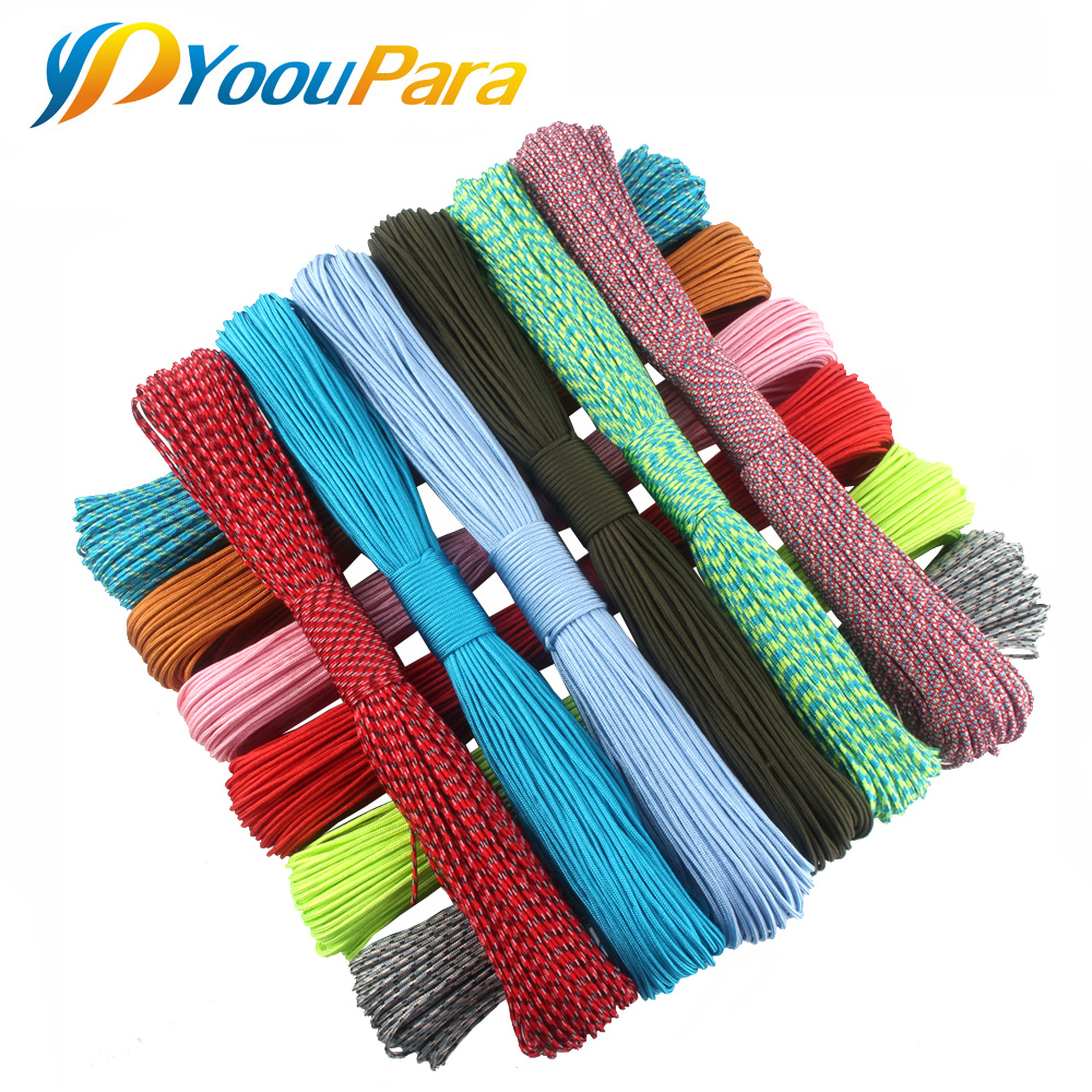 110 Colors Dia. 2mm Paracord For Survival Parachute Cord Lanyard One Stand Cores 100FT Rope Camping Climbing Camping Rope Hiking