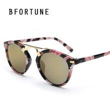 BFORTUNE 2017 Ronda Vintage gafas de Sol Mujeres Diseñador de la Marca de Espejo UV400 Retro Gafas de Sol Lentes Oculos De Sol Gafas Feminino