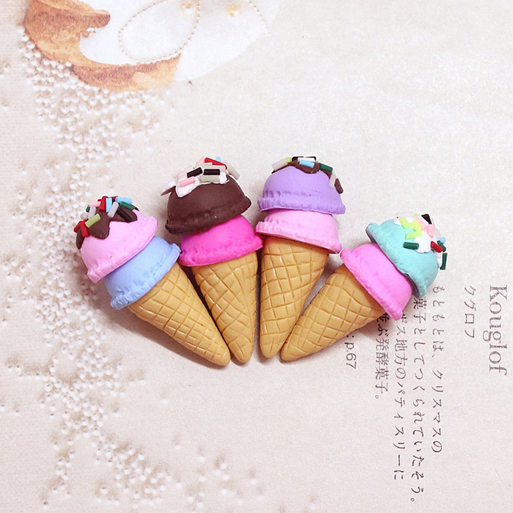 Ice Cream Cone Supplement Charms For Slime DIY Polymer Filler Addition Slime Accessories Toy Lizun Modeling Clay Kit For Child