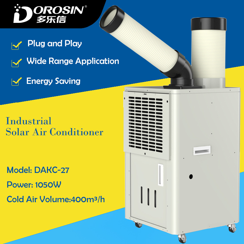 Large Capacity Solar Cold Air Conditioner Air Cooling Machine Workshop Equipment Cool Machine Single Cold Maker Cooling Machine