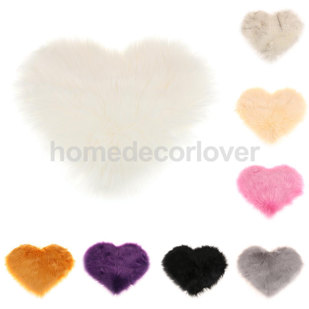 Aliexpress.com : Buy Love Shape Shaggy Soft Sheepskin Area