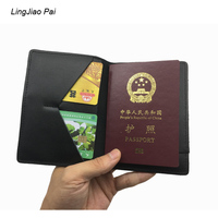 LingJiao Pai Federation Travel Girl Passport Holders Pu Leather Russian Letters Luxury Solid Men Passports Protector