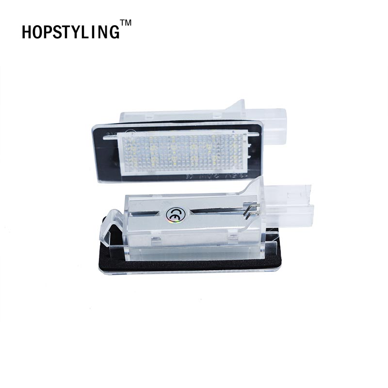 HOPSTYLING 2x LED License plate light For Renault Espace MK4 Sconic MK2 Lanuna II (KGO) Number lightAuto replacement accessoriey 1 18 otto renault espace ph 1 2000 1 car model reynolds