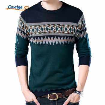Covrlge New Male Sweater 2019 Autumn Winter Fashion O-neck Pullover Casual Slimfit Mens Wool Knitted Polo Shirt Sweaters MZL014 - DISCOUNT ITEM  48% OFF All Category