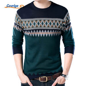 Covrlge Male Pullover Casual Mens Wool Knitted Sweaters 4cb61b2ab947
