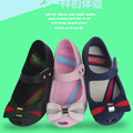 Children's sandals Girl Summer Shoes Ventilation  fish mouth girl Jelly sandals Princess fashion bow kids Non-slip rain shoes
