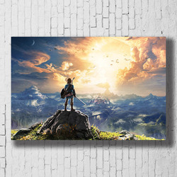 The Legend of Zelda Breath of the Wild Game Poster Wall Art Canvas Print Painting Decorative Picture Wallpaper Bedroom Decor