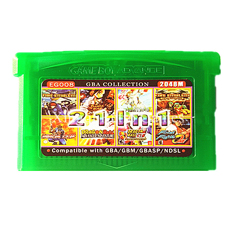 Nintendo GBA Game EG008 21 in 1 Video Game Cartridge Console Card Compilations Collection English Language