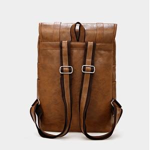 Image 4 - Travel Leather Backpack Men Waterproof Vintage Bag Large Capacity Back Pack Fashion Bagpack Laptop Backpacks Casual Bags For Men