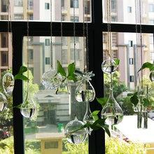 Прозрачная стеклянная ваза гидропонная бутылка для домашнего