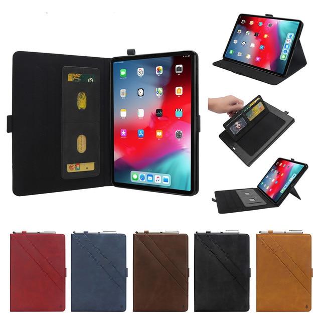 Lật từ Trường Hợp cho ipad pro 12.9 2018 PU Leather Trở Lại chủ bút Tablet Bìa Trường Hợp đối với new apple ipad pro 2018 trường hợp 12.9