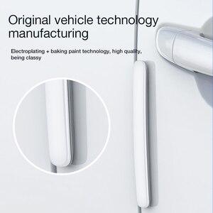 Image 3 - Baseus 4個ユニバーサル車のドアアンチスクラッチプロテクター自動車電話ホルダードアエッジガードステッカーバンパー保護ストリップアンチコリジョン