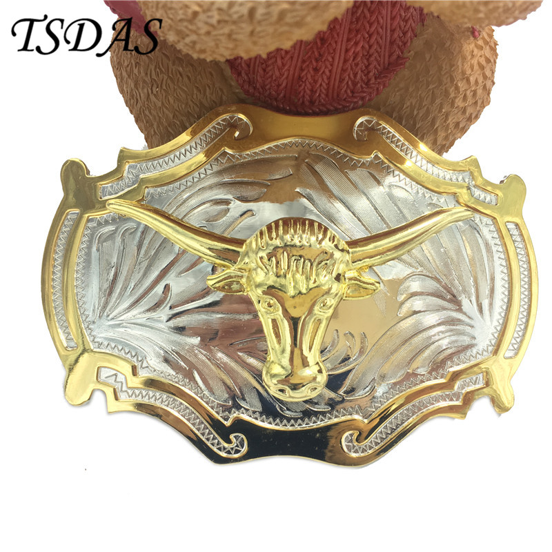 Free Shipping Cow Head Designer Metal Belt Buckle The Matador Leathercraft Accessories Wholesale Animal Belt Buckle 1pc