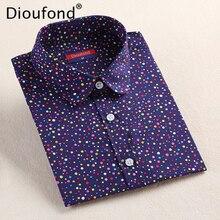 Dioufond 2017 Fashion Polka Dot font b Blouse b font Long Sleeve font b Shirt b