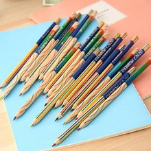 10Pcs/Lot Rainbow Color Pencil 4 In 1 Colored Pencils for Drawing Stationery