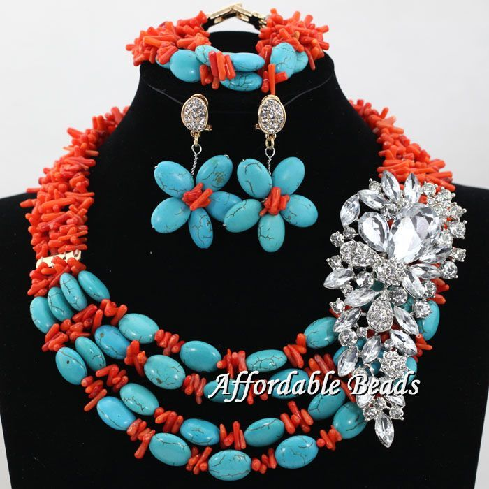 Mixed colour African Beads Jewelry Sets Handmade beaded Bridal Necklace Nigerian Wedding Costume Jewelry Set hx042 african patterns to colour