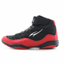Maultby 1.0 Speed Men's Boxing Training Boot Black / Red Wrestling Shoes
