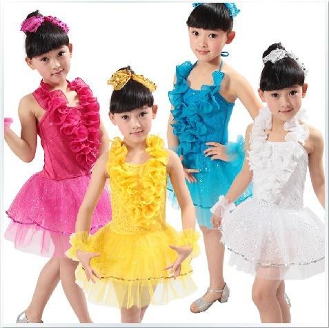 ⊰4 Color Girl Modern Ballroom Dance Competition Dresses Kids ...
