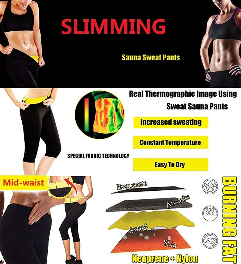 07f6b9d2cccb76 Junlan Women Neoprene Workout Pants Body Shaper Sweat Sauna Suit for Weight  Loss Exercise Leggings Hot ...