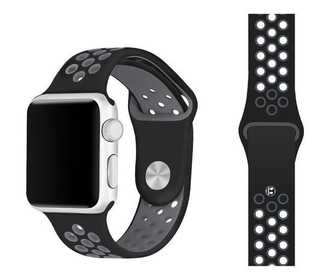 Series 1/2/3/4 Rubber Silicon Sports Band for Apple Watch strap wristband 38mm 42mm 40mm 44mm blet For iwatch bracelet