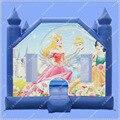 HOT10ft Princesa Casa do Salto Moonwalk Inflável Princesa Castelo Inflável Comercial 680 W blower Incluído DHL Frete Grátis