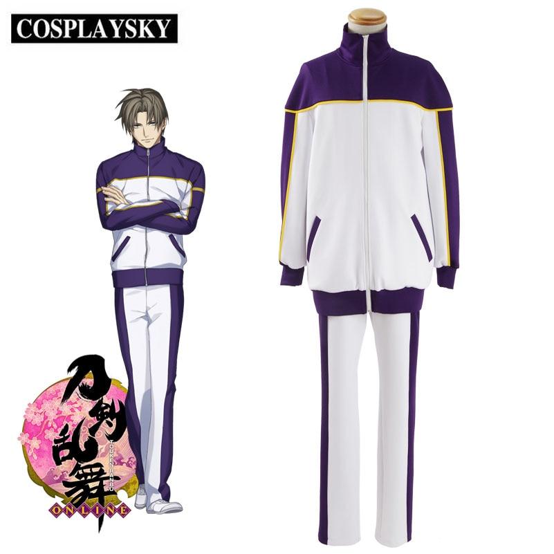 Japanese Anime Touken Ranbu Online Cosplay Heshikiri Hasebe Costume Men School Uniform Party Halloween Suits Coat&Pants