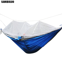 2019 New Fashion Portable Mosquito Net Hammock Outdoor Backpacking Travel Survival Hunting With 2 Straps