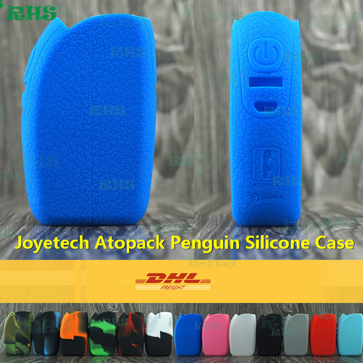 50pcs Free DHL Innovative Products Silicone Case for Electronic Cigarette Kit Joyetech Atopack Penguin With 50W Output Power