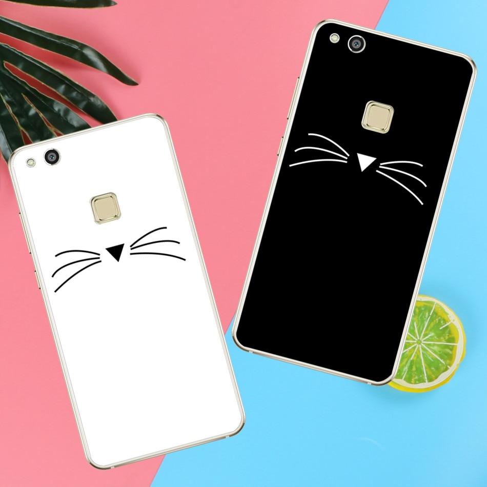 Beard Cat <font><b>Phone</b></font> <font><b>Case</b></font> For Huawei P8 P9 <font><b>P10</b></font> <font><b>Lite</b></font> 2017 For iPhone 4 4S 5 5S SE 5C 6 6S 7 8 X Plus
