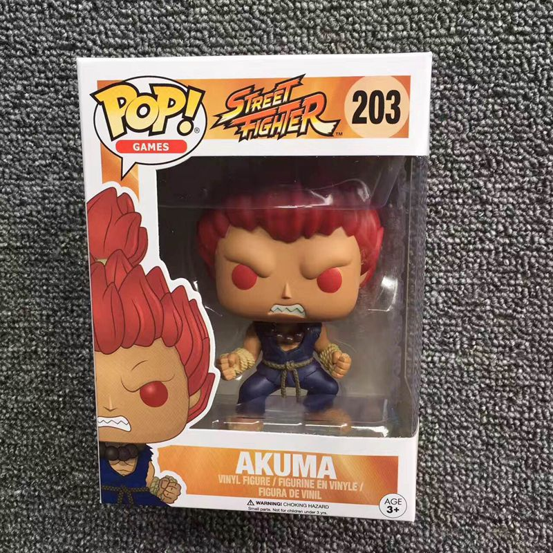 Exclusive Funko pop Official Games: Street Fighter -  Akuma Vinyl Action Figure Collectible Model Toy with Original Box  funko pop games illidan 14 pvc action figure collectible model toy 4 10cm kt2242