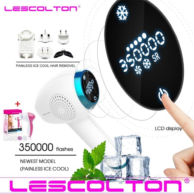Lescolton 3in1 Rimozione Dei Capelli di IPL di GHIACCIO Freddo Epilatore Laser Permanente per la Casa Bikini Trimmer Elettrico Fotoringiovanimento Depilador