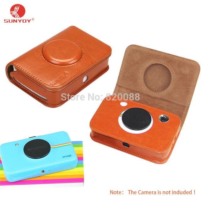 Sunyoy высокое качество pu кожаный чехол для polaroid камера оснастки, бесплатная Доставка