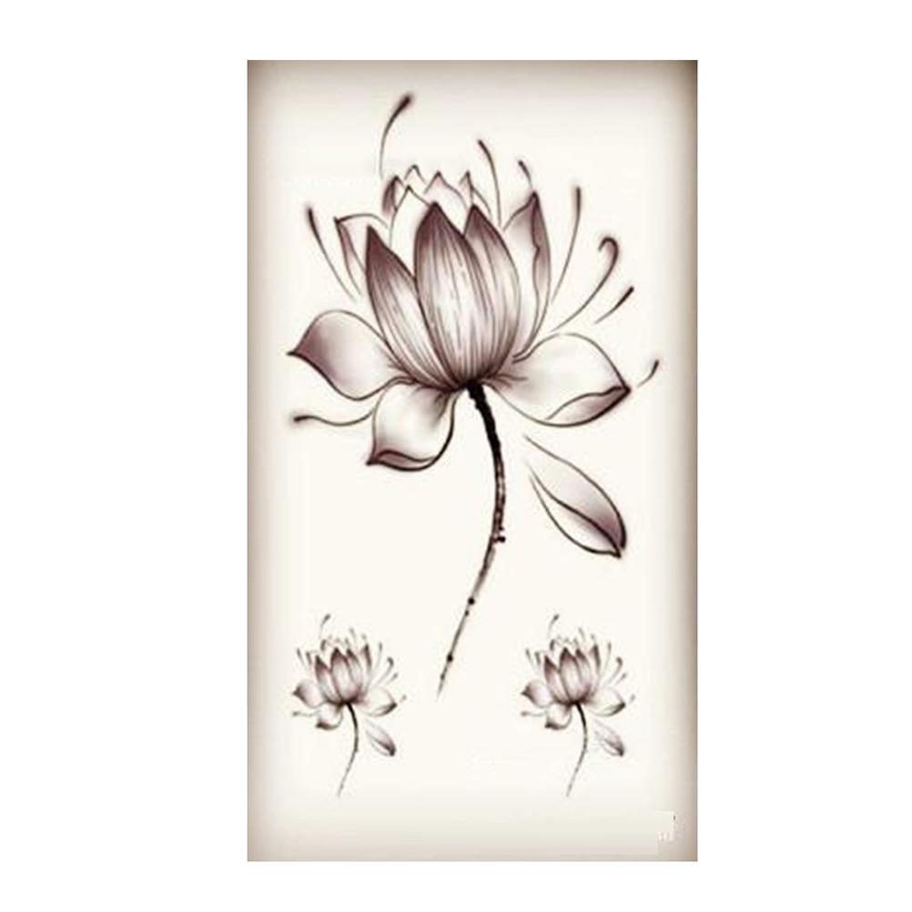 Hot Sale 1pc Beautiful Flower Tattoo Stickers Waterproof Temporary