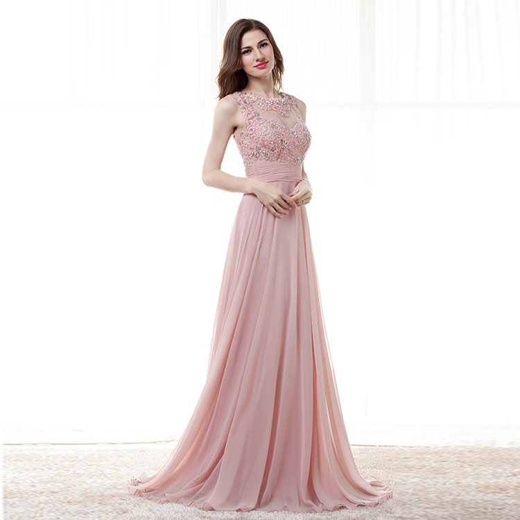 Aliexpress.com : Buy Modest Pale Pink Evening Dresses Long Formal ...