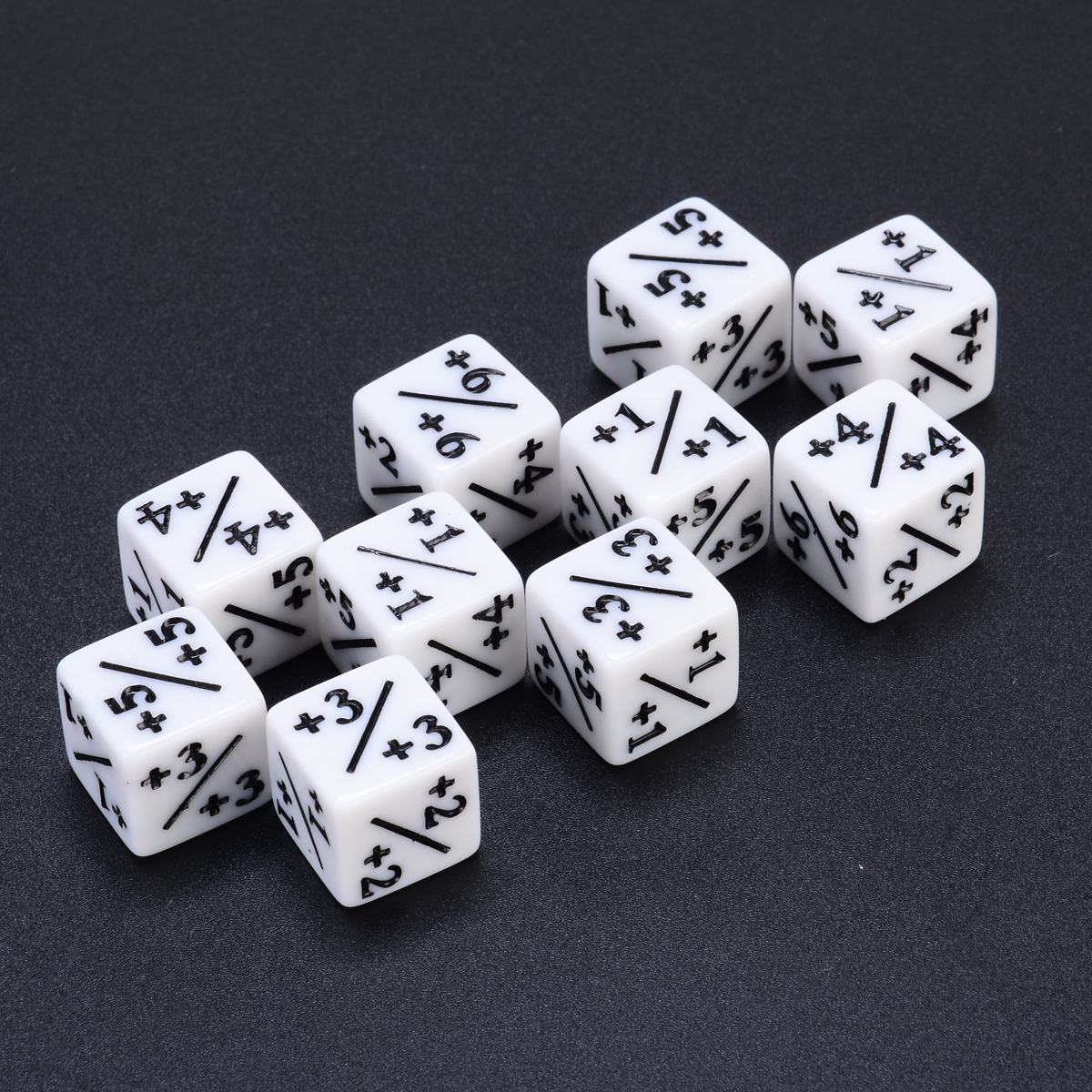 10pcs White Dice Counters +1/+1 For Magic The Gathering & MTG Games Poker Party Bar Gambling Board Desktop Funny Outdoor Dice