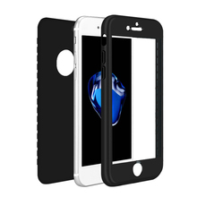 360 Full Protective Phone Case For iPhone 7 7Plus 8 8plus 6 6s 6plus 5 5S SE X Xs Max Xr Soft Silicone Back Cover Coque protective silicone back case for iphone 5 5s translucent white